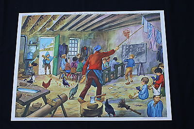 Affiche Scolaire Jules Ferry ecole primaire Victor Hugo Rossignol tableau V138