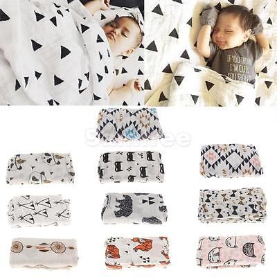 Cotton Muslin Baby Boy Girls Swaddle Blanket Receiving Blanket Cover for Newborn