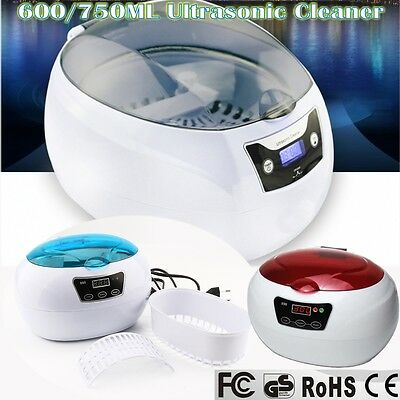 600/750ML Multi Use Ultrasonic Sonic Wave Cleaner Jewelry Glasses Watch Clean AU
