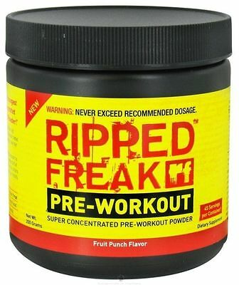 RIPPED FREAK Pharmafreak PRE-WORKOUT; Super-Concentrated 200g + free pwo