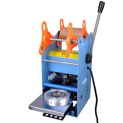 "270W Commercial Manual 2.75""/3""/3.5"" Cup Sealing Machine Sealer 300-500 Cups/Hr"
