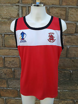 """Official """"ISC"""" Wales Rugby League Training Vest""""  RRP £29.95"""
