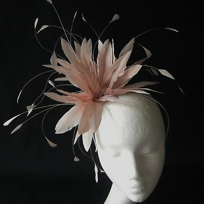 Nude Feather Fascinator for Weddings, Races and Proms