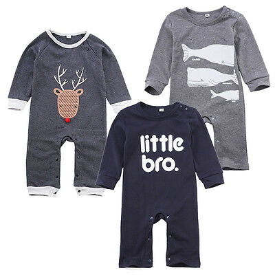 Baby Boy Girl Clothes Bodysuit Romper Jumpsuit Playsuit Newborn Toddler Outfits