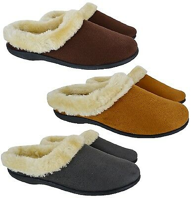 Ladies Slippers Mules Slip On Winter Womans Comfort Warm Flat Ankle Bootie Size
