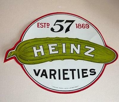 Large Old Heinz 57 Pickle, Paper Label, Never Used. U.S.A.
