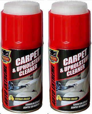 2 x Carpet & Upholstery Fabric Car Cleaning Cleaner Spray Stain Remover Brush