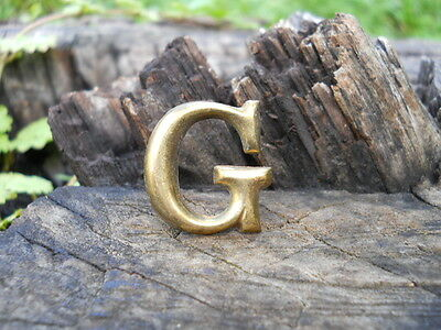 Rare Original Vintage Antique Civil War Relic Company Letter G Brass Lead Filled