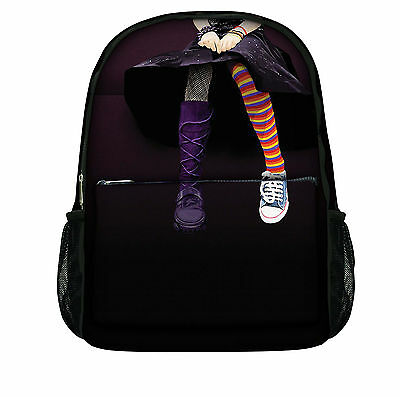 Luxburg® Designer Backpack Rucksack School Gym Travelling bag - Emo girl