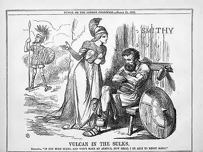 Vulcan, Britannia, Mars, Uncle Sam, US Civil War Era Historic Poster, 1865