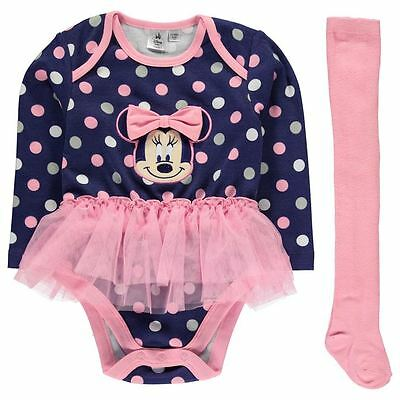 Disney England Minnie Mouse Body Tütü Set + Strumpfhose Gr. 56 62 68 74 80 86 92