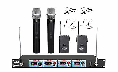 NEW FOUR CHANNEL VHF Wireless Handheld/Headset Microphone System UGX9ⅡHL