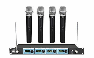 NEW FOUR CHANNEL VHF Wireless Handheld Microphone System UGX9Ⅱ H