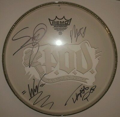 RARE! P.O.D. Signed Autographed Drumhead Awesome! Rare! Logo and all!