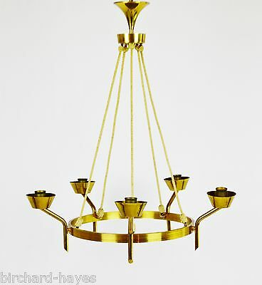 Antique Brass and Rope Chain 5 Light Chandelier