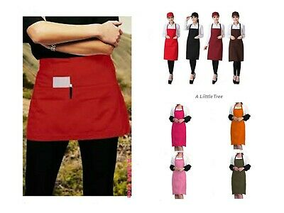Short/Long Pocket APRON for Bar Cafe Pub Waiter Waitress Barista Kitchen Chefs