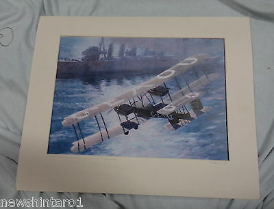 Matted  Print Of Vickers Vimy & Hmas Sydney, Ready For Framing