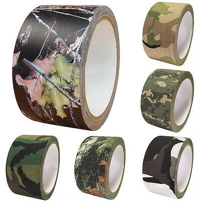 Bande Ruban Camouflage Adhesif 50mm×10m Pour Chasse Camping Tackle Réutilisable