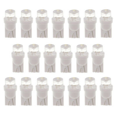 20PCS White Super Bright DC12V T10 5050 5SMD LED Car Light Wedge Lamp Bulbs
