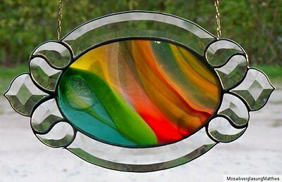 Leaded glass Faceted Window image with noble Real Antique glass in Tiffany