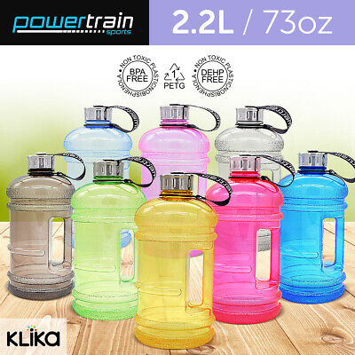 2.2L Jumbo Enviro Drink Water Bottle Shaker BPA Free Workout Gym Running Large