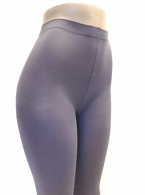 Music Legs 747 Tights Opaque Nylon Pantyhose Plus Size 1X Queen Solid Gray