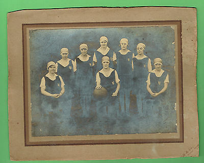 #T64. Very Early Photograph  - Girls'  School  Volleyball Team