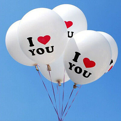10Pcs I Love You Balloons 12 inch Pearl Latex Balloon Party Decoration Trendy