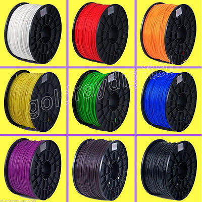 3D Printer Filament ABS/PLA 1.75mm 1kg/roll 12 colours AU Stock Fast Shipping