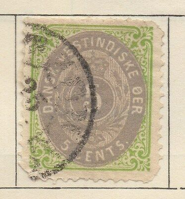DANISH WEST INDIES;  1870s early classic used 5c. value
