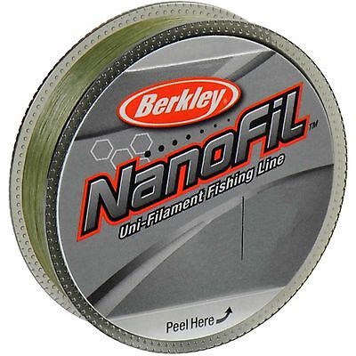 Berkley Nanofil Lo Vis Green Uni-Filament Spin Fishing Line 125m & 270m