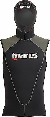 Mares Flexa Men's 3mm Thermal Booster Underlayer Vest Wetsuit with attached Hood
