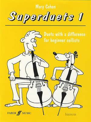 Superduets 1 for Beginner Cello Sheet Music Book Duets with a Difference
