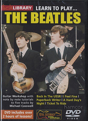 Learn to Play The Beatles Lick Library Guitar DVD by Michael Casswell