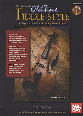 Old-Time Fiddle Style 35 Traditional Appalachian Tunes Violin Music Book & CD