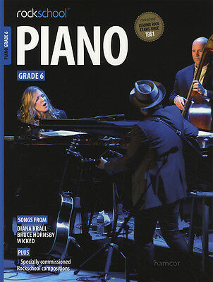 Rockschool Piano Grade 6 Exam Sheet Music Book/Audio Wicked Diana Krall Hornsby