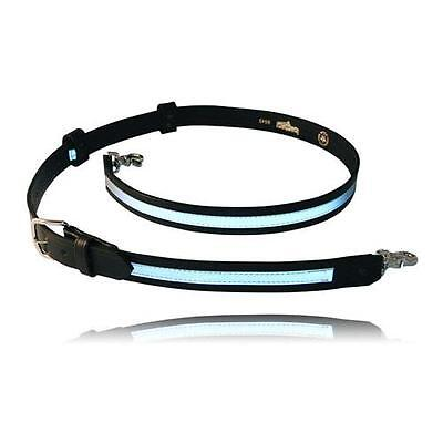 Boston Leather Reflective Firefighter's Radio Strap / Belt #6543R