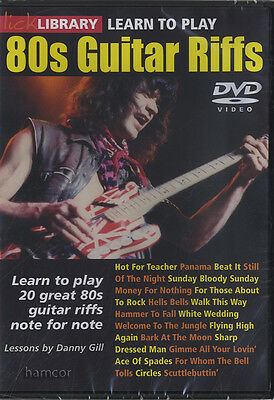 Learn to Play 80s Guitar Riffs Lick Library DVD AC/DC U2 ZZ Top Dire Straits EVH