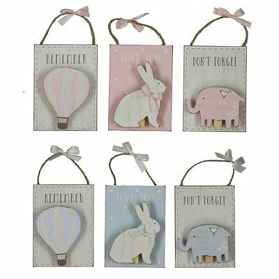 Set of 3 Boy Girl Baby Kids Nursery Room Petit Cheri Peg Clips Wall Decorations