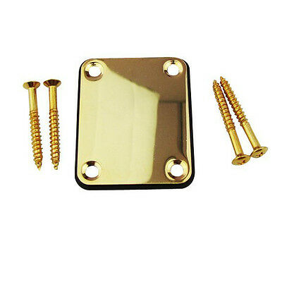 Neck Plate with 4 Screws Replacement Part for Fender Strat Electric Guitar
