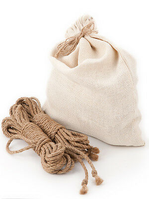 Bondage Jute Rope Beginners Kit for Shibari (Kinbaku Asanawa) - 8m x 6mm 4pcs
