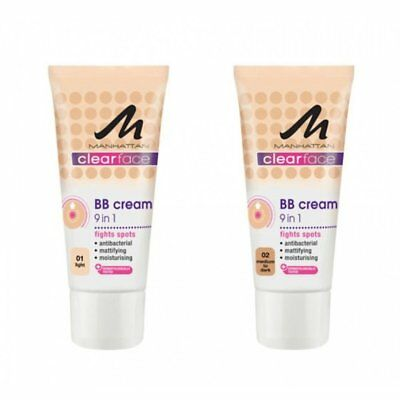 Manhattan Clearface 9 In 1 BB Cream - Choose Your Shade