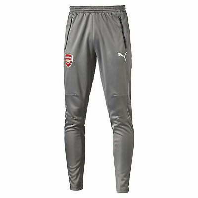 Official Puma Arsenal Mens Gents Football Soccer Training Pants Trousers - Grey