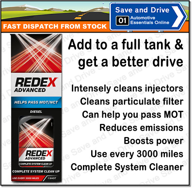 Redex Diesel Advanced Concentrated Car Fuel System Injector Cleaner RADD2401A