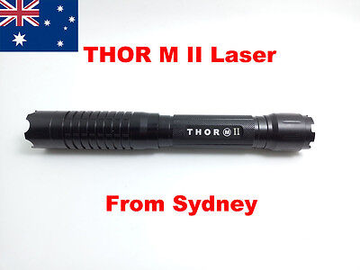 Thor M II 2 Laser 445 450nm Powerful Military Blue Laser Pointer Torch BURN