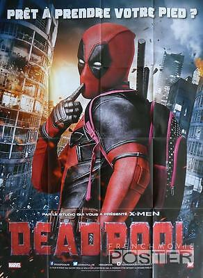 Deadpool - Marvel / X-Men - Reynolds - Original Large French Movie Poster