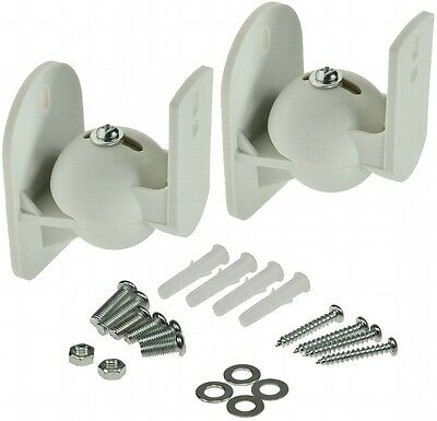 2 X Wall Mount Bracket Home Theater Speakers HIFI for Rotatable-/Tiltable White