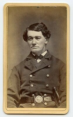 Nice Civil War Era Charlestown, Massachusetts Policeman Carte de Visite (CDV)