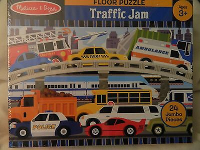 Nib Melissa & Doug Jumbo Floor Puzzle - Traffic Jam - 24 Pcs. #4421
