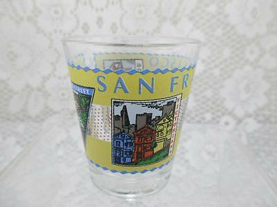 Vintage Colorful Wraparound Graphics~San Francisco Souvenir Shot Glass~